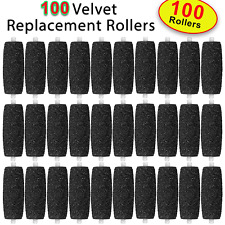 100 X Extra Coarse Replacement Refill Rollers for Scholl Velvet Smooth Express