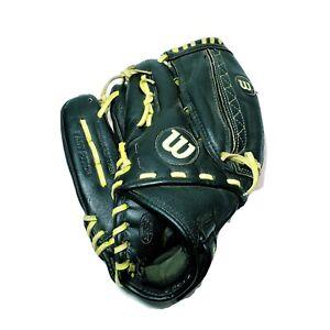 "Wilson A440 Fastpitch 12"" Black/Yellow Baseball Softball Glove Left Hand Throw"