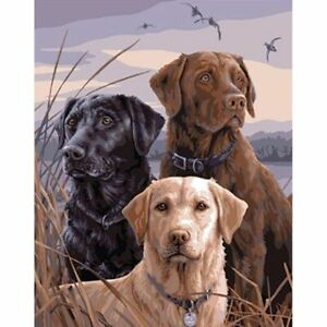 Full Drill 5D Labrador Dogs Diamond Painting Embroidery Cross Stitch Kits Mural