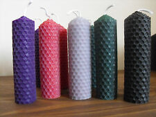 "Beeswax Candles 4"" Set of 10, mixed colours"