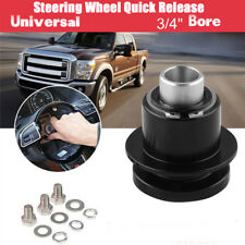 "360° 3 hole Steering Wheel Quick Release Disconnect Kit Aluminium 3/4"" Bore"