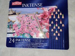 Derwent Inktense 24 Watersoluble Ink Pencils Unused