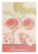 COUCKE, POMMIER (APPLE TREE), ROUGE FRENCH JACQUARD KITCHEN TOWEL, NEW
