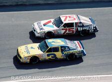 1987 DAYTONA 400 8x10 NASCAR PHOTO #3 DALE EARNHARDT SR CHEVY #75 NEIL BONNETT