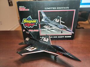 Dale Earnhardt Sr #3 F-16 Falcon 1:32 Scale Bank by Racing Champions / Snap-on