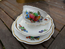ANTIQUE TRIO CUP/SAUCER/PLATE HAND PAINTED, CROWN STAFFORDSHIRE. 1900S.VERYGOOD
