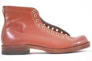 JULIAN BOOTS, MONKEY BOOT, KANGAROO COGNAC, NAILED SOLE, HAND MADE