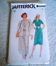Vintage Butterick Ladies Dress & Jacket  size 12.5-14.5  Sewing  Pattern no:6969