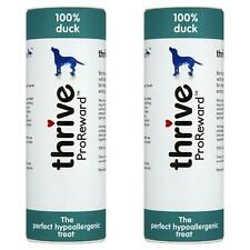 2 x Thrive Proreward Dog Treats Duck Tube 100% Natural Meat Training Snacks 60G