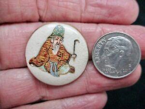Vintage-SATSUMA Male Figural Button w/Crazing Button D