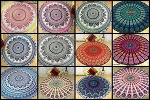 Roundies Soft Cotton Round Omber Mandala Excellent Fabric Tapestry Handmade Art