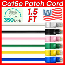 1.5 FT CAT5E Cable Ethernet Cat5e Cord Internet Patch Cord Router Network Wire