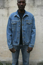 Rifle Heritage Denim Jacket Men's size  Blue Trucker Biker Jeans XL