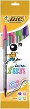 BIC Cristal Fun Ballpoint Pens Fashion Colours 4 Pack
