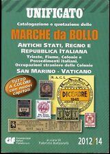 CATALOGO UNIFICATO 2012 2014 MARCHE DA BOLLO ITALIANE - NUOVO