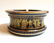 Vintage Cobalt BLUE 24k Gold GREECE Pottery ASHTRY Exc