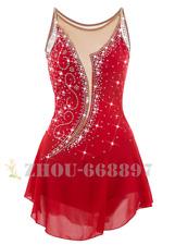 Red Figure Skating Dress Women Ice Skating Dresses Custom handmade classic