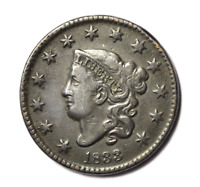 1833 1c Coronet Matron Head Large Cent Copper Penny Rare US Coin