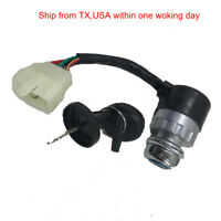 2 Sets 2 Wire Female Plug Ignition Switch Key Throttle Lock for Electric Go-Kart