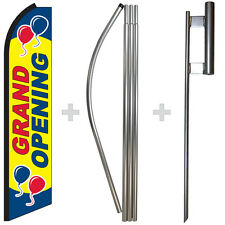 Grand Opening 15 Tall Swooper Flag Amp Pole Kit Feather Super Bow Banner