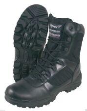 Calzado de hombre militar/con cordones de color principal negro de piel