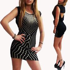 Rückenfreies Kleid Marke Nitaz hot Beach Party Urlaub Strand Mini Dress schwarz