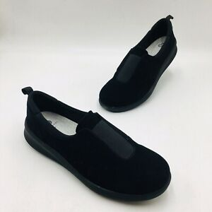 CLOUDSTEPPERS by Clarks Sillian 2.0 Walk Slip-On Walking Shoes Size 9.5 Black