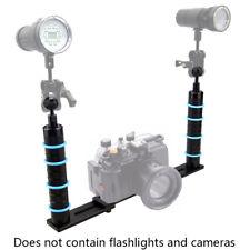 """Doppel Kameraschiene Unterwassergehäuse Doppelgriff mit Kugel 2,5 cm (1"""") 202.11"""