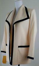 VNTG. Adolph Schuman for Lilli Ann~Woman Sz 10~Cream Open Front Wool Blazer NWT