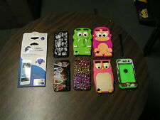 APPLE I-POD COVERS, SCREEN PROTECTORS, & STYLUS - ASSORTED - USED