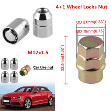 Alloy Steel Anti Theft Security Lock Nut Wheel Lug Nut 1X Key 4X Locks M12x1.5