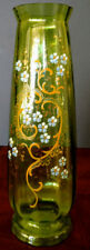 MOSER Fine Art Glass Green, Yellow & White Enameled Glass Old-1880's