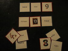 Teaching Resources - Spanish -  Numbers to 20 - Matching Cards Game