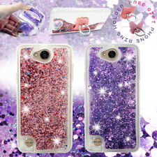 For LG X Power 2, Fiesta, X Charge, Liquid Glitter Bling Clear Case Protective