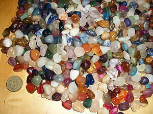 50 x ASSORTED 10mm - 18mm SMALL POLISHED  TUMBLE STONES GEMSTONE CRYSTALS