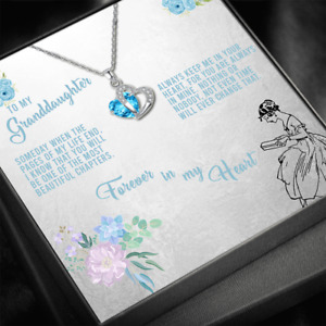 To My Granddaughter Necklace, Gift for Granddaughter, Necklace for Granddaughter
