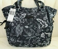 RARE Vera Bradley Iconic Glenna Satchel Black Gray Bag Maplewood Navy Denim