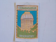 VINTAGE COONABARABRAN OBSERVATORY EMBROIDERED SOUVENIR PATCH WOVEN CLOTH BADGE