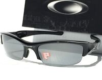 NEW* Oakley FLAK JACKET in POLARIZED Black Iridium Lens w Black Sunglass