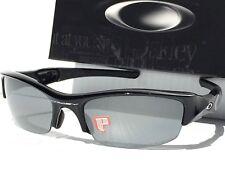 NEW* Oakley FLAK JACKET in POLARIZED Black Iridium Lens w Black Sunglass