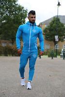 Mens Muscle Gym Slim Fit Tracksuit Bottoms Skinny Joggers Sweat FullSuit