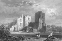 Germany RHINE RIVER SCHLOSS CASTLE STOLZENFELS RUINS ~ 1880 Art Print Engraving
