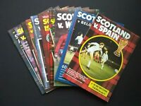 Lot x 10 Scotland Home Football Programmes 1980's