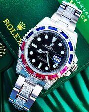 Rolex GMT Master II 2 116710LN Custom Sapphire Ruby Diamond Pepsi (SARU) 2017