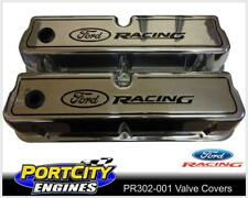Alloy Valve Covers for Ford 289 302 351 Windsor Ford Racing Logo Tall PR302-001