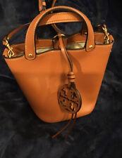 Tory Burch Miller Mini Bucket Bag Brown
