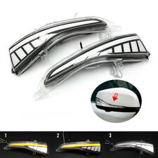 For INFINITI Q50 QX60 Yellow & White Dynamic Turn Signal Mirror Sequential Light