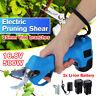 500W 17V Cordless Electric Pruning Shears Li-ion Secateur Garden Branch  J H