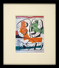 Stunning Mixed Media Painting Of A Surrealist Composition signed Le Corbusier