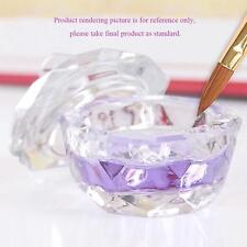 Personal Nail Art Acrylic Crystal Glass Dappen Dish Lid Bowl Cup Liquid Powder